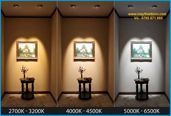 Nhiệt độ màu ánh sáng ảnh hưởng đến màu sắc của vật liệu